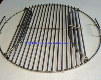 "21.5"" Round Flip Up BBQ Stainless Grill Cook Grate- KG 7436 Weber  replacement"