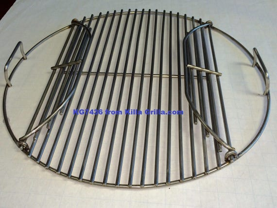 Round flip up bbq stainless grill cook grate kg