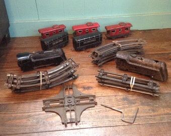 1950'S New York Central Wind Up Train Set