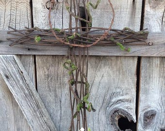 Metal Twig Cross