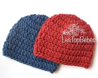 Twin Boy Hats, Newborn Twin Hats, Twin Baby Beanies, Wool Twin Hats, Hospital Twin Hats, Blue Red Twin Hats, Newborn Twin Gifts, Newborns