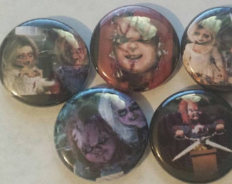 Chucky Childs Play Button Set of 5