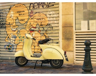 Yellow Vespa | Get your photography logo design: www ... |Pastel Yellow Vespa