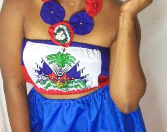 Haitian flag skirt