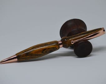 rose gold and Wenge twist pen