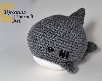 Shark amigurumi crochet toy