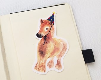 Party With Baby Pony Vinyl Stickers, Iphone Stickers, Ipad, Vinyl Sticker, Waterproof Sticker, Baby Animals