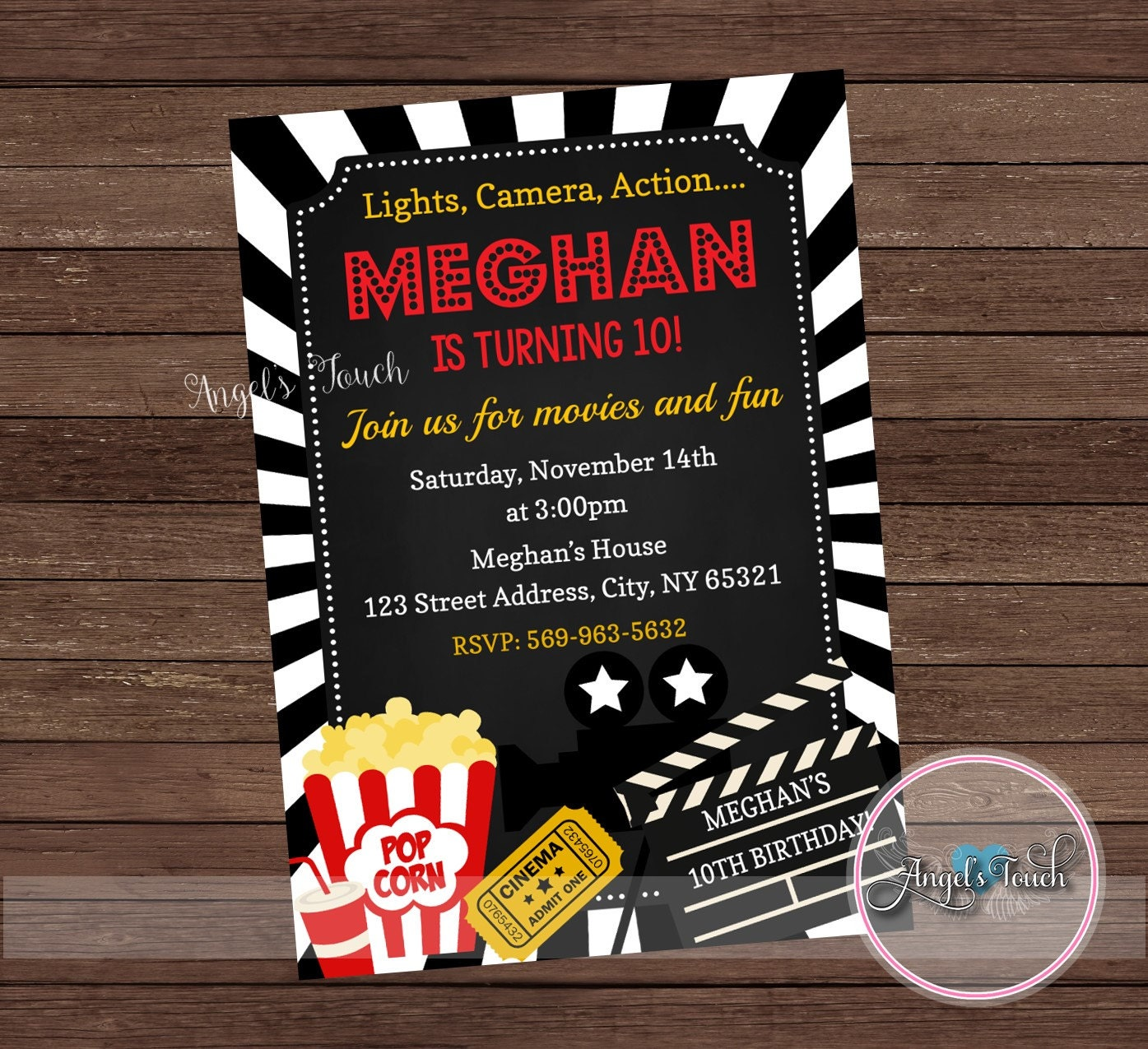 Red Carpet Party Invitation, Red Carpet Birthday Party Invitation ...