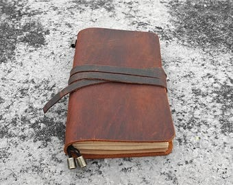 Custom travel journal personalized leather journal notebook handmade books monogrammed journal