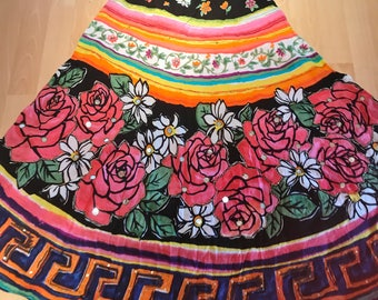 Gypsy Skirt with flower mirror design (used)