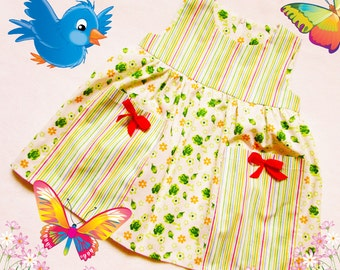 Dress for baby girls and toddler,Sundress for girl,baby,easy to make dress,children's sewing pattern to fit 3 months to 2 years.
