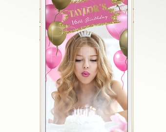DIY Snapchat GeoFilter for Birthdays or bridal showers | Instant download | Balloons