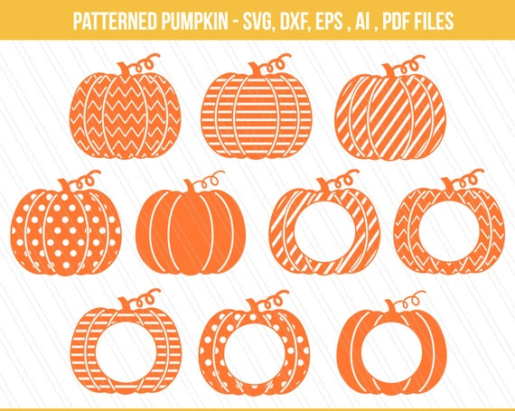 Pumpkin svg dxf pumpkin monogram pumpkin clipart halloween for Monogram pumpkin templates