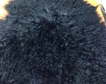 FREE SHIPPING !! Black Mongolian lamb skin sheep skin hide pelt