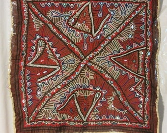 Vintage Rabari Tribal Wall Hanging 530mm X 550mm