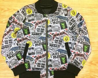 Vintage 90's Bomber Reversible Summer Jacket