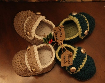 Crochet baby shoes (0-24 months)