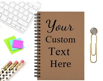 Personalized journal, custom text