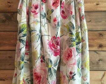 Floral Midi Skirt Multi