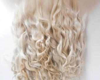 Doll Hair Mohair,doll hair,Goat curls for dolls, curls for doll hair, doll hair,goat locks
