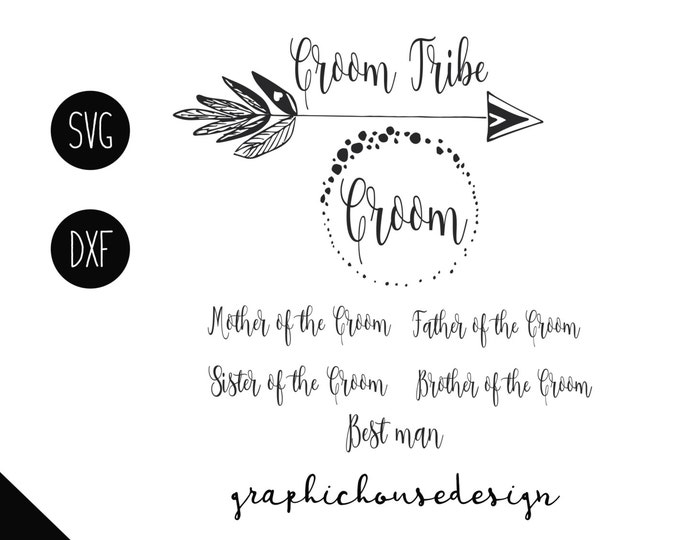 groom bundle svg, wedding bundle svg, groom relatives svg, wedding family bundle, wedding svg, groom tribe svg, groom best man svg,