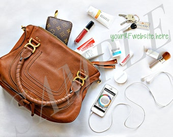 Rodan and Fields Social Media Marketing Image - 'What's in My Bag' FB Photo with Bonus Banner Size, Personalized with your Website