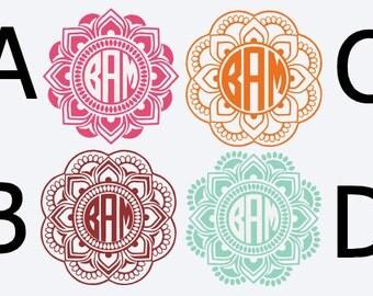 Mandala Monogram Can Cooler