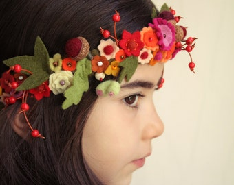 Autumn wreath, fairy Crown
