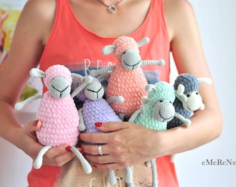 Сrochet sheep pattern,Cute sheep, amigurumi pattern, lamb pattern, crochet animals, PDF pattern, crochet toy pattern