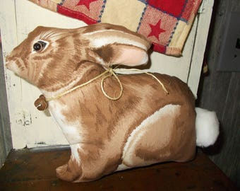 bunny pillow tuck, Spring decor, cupboard tuck, farmhouse decor, country rustic, child's room, basket filler, primitive decor, rabbit decor