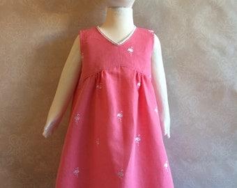Size 2 Pink flamingo dress - Adore the Cloth