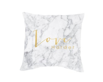 Marbe Gold Love Throw Pillow Case (Cover ONLY)