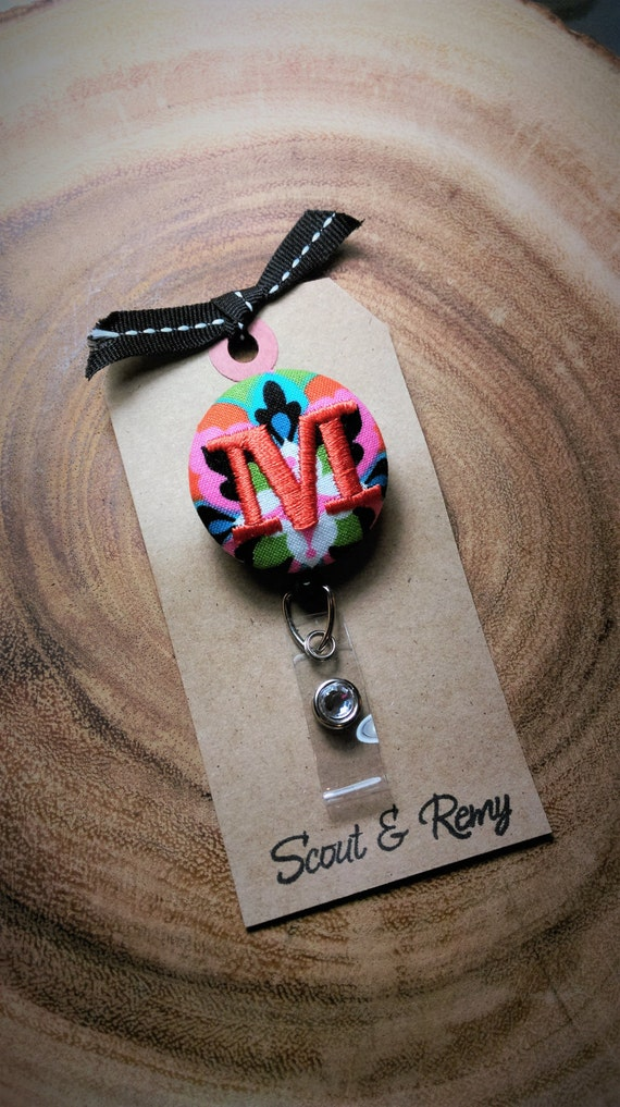 Monogram  Badge Reel Scout and Remy