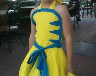 Flounder inspired dress
