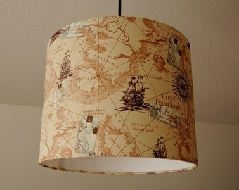 "Ceiling lamp ""Seamap"" (ceiling lamp shade)"