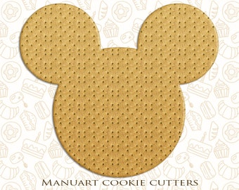 Mickey Mouse Cookie Cutter, Disney Cookie Cutter, kids cookie cutter, party cookie cutter, cartoon cookie cutter, 3D Printed