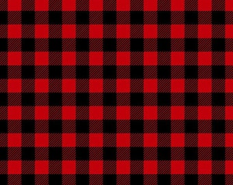 14″ by 12″ Buffalo Plaid Fashion Print HTV w/ Mask