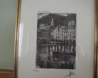Gilt engraving Italy Portofino