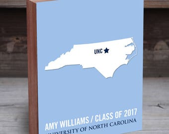 University of North Carolina - North Carolina Tarheels - UNC Tarheels - College Graduation Gift