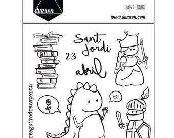 "Sellos acrilicos ""Sant Jordi"""