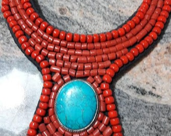 Necklace Coral beads