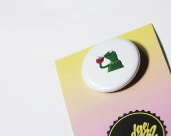 NONE OF MY Business / 32mm pin button badge