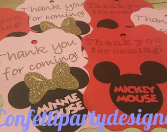 12- Mickey & Minnie Gift tags