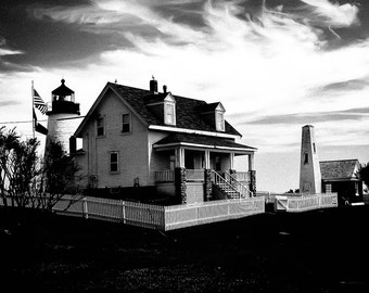 Photo Art, Lighthouse, New England Lighthouse Photograph, Lighthouse New England Coast, Famous New England Lighthouse