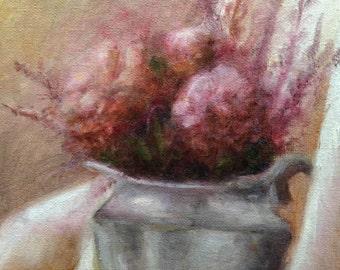 "painting still life study: ""flowers"""