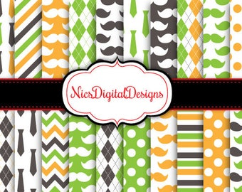 Buy 2 Get 1 Free-20 Digital Papers. Fathers Day Papers 1 (2L no 3) for Personal Use and Small Commercial Use Scrapbooking