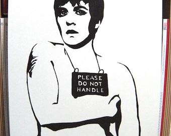 Lena Dunham portrait paint stencil