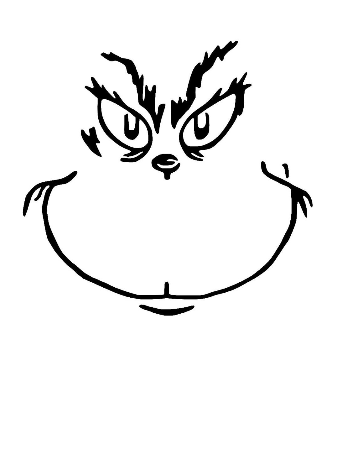 It's just an image of Irresistible Free Printable Grinch Face Template