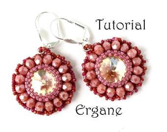 Daisy Earrings Tutorial, Earrings Tutorial, Beading Tutorial, Earrings Beading Tutorial, Ergane Beading