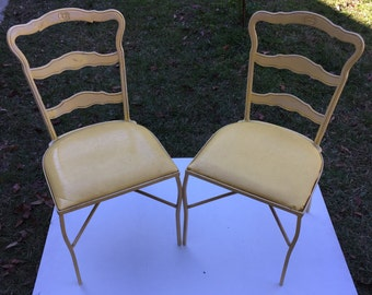 Yellow Metal Chairs